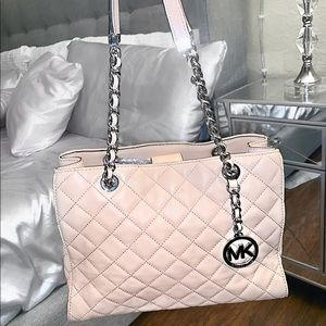 Authentic MK Susannah Medium Blush Leather